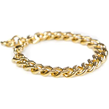 Gold Bracelets for Women, Gold Chain Bracelet, Gold Link Bracelet, Cuban Link Bracelet Gold Charm Bracelet 14k Gold Plated Bracelet Celebrity-Approved Gold Link Bracelet
