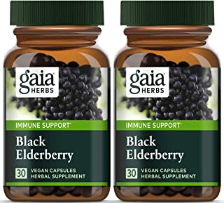 Sponsored Ad - Gaia Herbs, Black Elderberry, Organic Sambucus Elderberry Extract for Daily Immune and Antioxidant Support,...