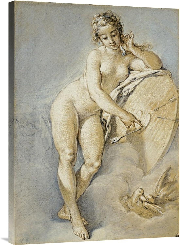 Global Galerie Budget gcs-265972–76,2–360,7 cm Francois Boucher Venus stehend Gesten für ein Herz auf eine Targe mit zwei Tauben Galerie Wrap Giclée-Kunstdruck auf Leinwand Art Wand B01K1QOC4M | Schön In Der Farbe