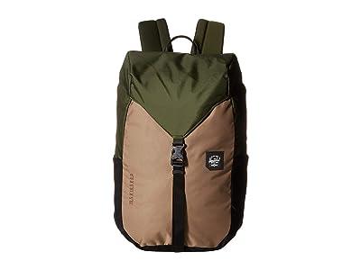 Herschel Supply Co. Barlow Medium (Dark Olive Multi) Backpack Bags