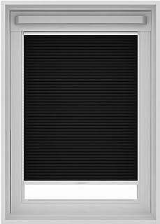 Inspire - Estor plisado para ventana de techo Velux, metal, Negro , MK04 (78x98 cm)