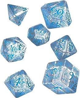 Elvish Dice Transparent/Blue (7)