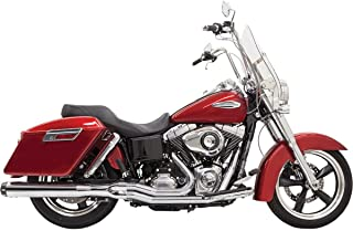 Bassani Manufacturing Road Rage 2-Into-1 Exhaust System - Chrome - Mid-Length, Color: Chrome 6V22R