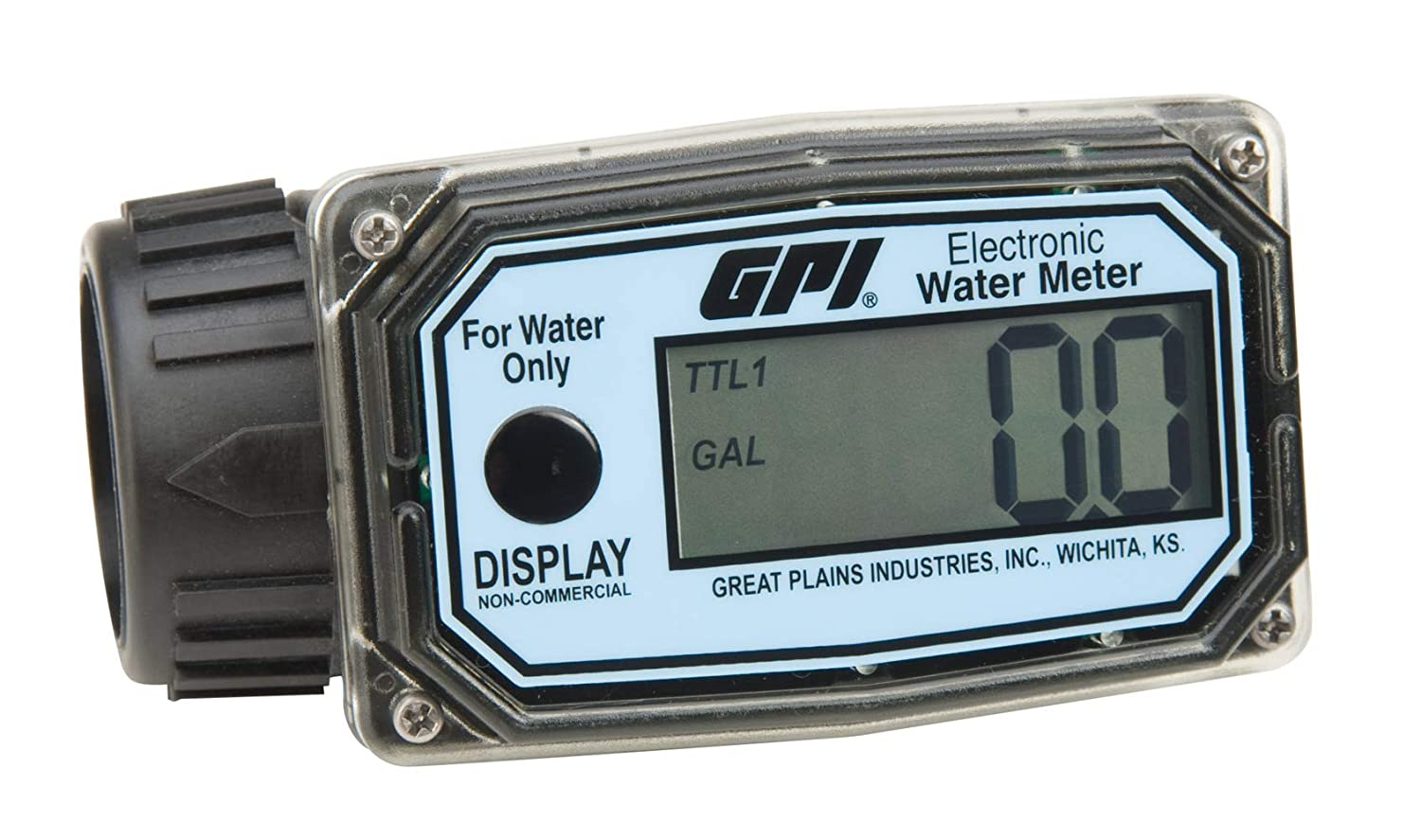 GPI 113255-4 Houston Mall 01N31GM Nylon Turbine Water Flowmeter with Limited time trial price Digital
