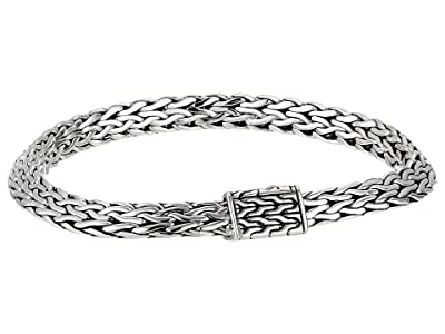 John Hardy 6.4 mm Classic Chain Tiga Chain Bracelet with Pusher Clasp (Sterling Silver) Bracelet