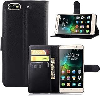 Ycloud Funda Libro para Huawei G Play Mini (Honor 4C), Suave PU Leather Cuero con Flip Cover, Cierre Magnético, Función de Soporte,Billetera Case con Tapa para Tarjetas + 1x Lápiz óptico (Negro)