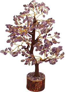 Crocon Amethyst Gemstone Money Tree Feng Shui Bonsai for Reiki Healing Chakra Stone Balancing Energy Generator Spiritual M...