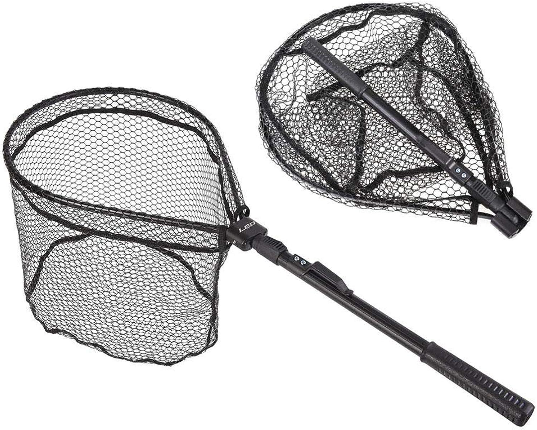 Isali Tools  81cm Folding Fishing Net Retractable Telescoping Aluminum Alloy Pole Super Large Folding Landing Net