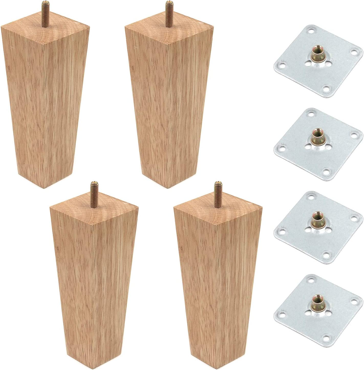 MY MIRONEY Square Furniture Challenge the lowest price of Japan Max 83% OFF ☆ Wood Legs Solid Taper