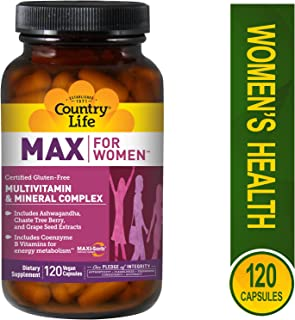 Country Life Max for Women - Multivitamin and Mineral Complex, Iron-free - 120 Vegan Capsules