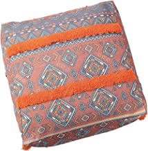 Poefafdekking Polyester Katoen Dikke Canvas Poufs Square Marokkaanse Poef Ottoman Bean Bag Tatami Floor Cushion (Color : C...