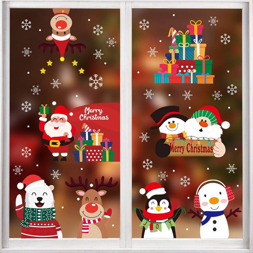 CCINEE 352PCS Christmas Window Clings OFFicial site Cl Snowflakes Sticker Super-cheap Sata