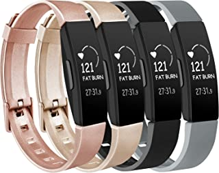 Vancle 4 Pack Silicone Bands Compatible with Fitbit Inspire HR & Fitbit Inspire & Fitbit Ace 2 Fitness Tracker for Women Men