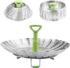 Syga Stainless Steel Steamer Basket- Silver
