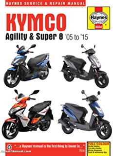 H6034 Kymco 2005-2015 Agility & Super 8 Haynes Scooter Repair Manual