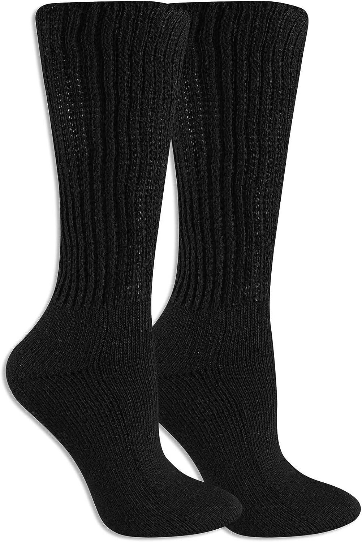 Dr. Scholl's Men's Plus Advanced Relief Diabetic & Ciculatory Crew Socks (2 Pack), Black, Shoe Size: 8-12