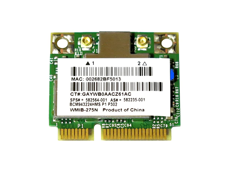 ぴったり銀行生命体HP 582564-001 582564-002 + 汎用 BCM943224HMS BCM43224 デュアルバンド 2.4GHz/5GHz 802.11a/b/g/n 300Mbps 無線LANカード