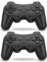 PS3 Controller 2 Pack Wireless 6-axis Dual Shock Upgraded Gaming Controller for Sony..