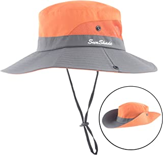 44472998a5983 Women Outdoor Summer Sun Hat UV Protection Wide Brim Foldable Safari  Fishing Cap