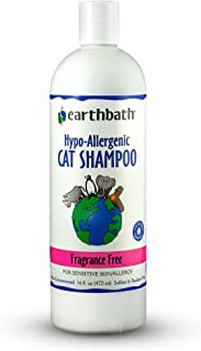 Earthbath 2 Pack of Hypo-Allergenic Cat Shampoo, 16 Ounces Each, Fragrance Free for Sensitive Skin