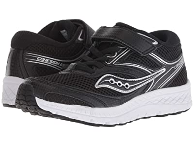 Saucony Kids Cohesion 12 A/C (Little Kid/Big Kid) (Black) Boys Shoes
