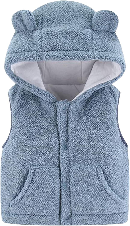 Baby [Alternative dealer] boy's Girls' Fleece Coral Superlatite Kids Vest Sleeveless