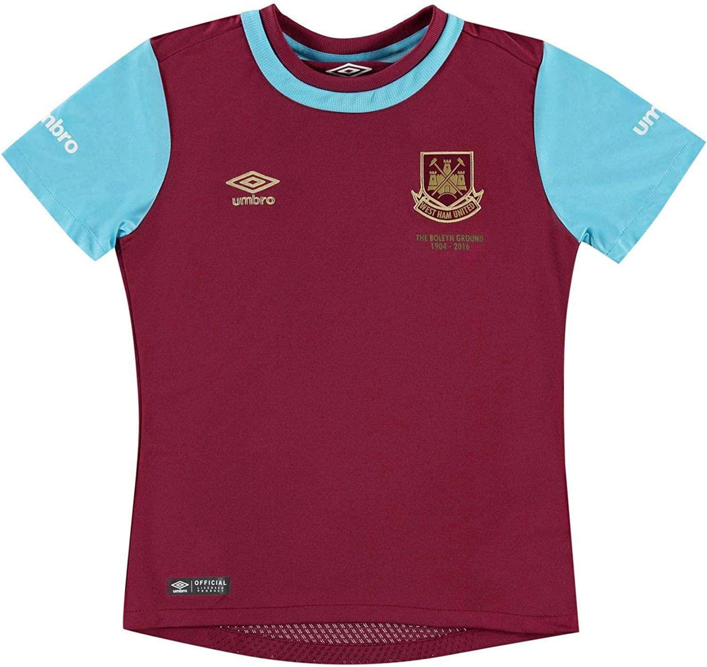 Umbro West Ham United Home Jersey 2015 2016 Juniors Claret Football Soccer Shirt