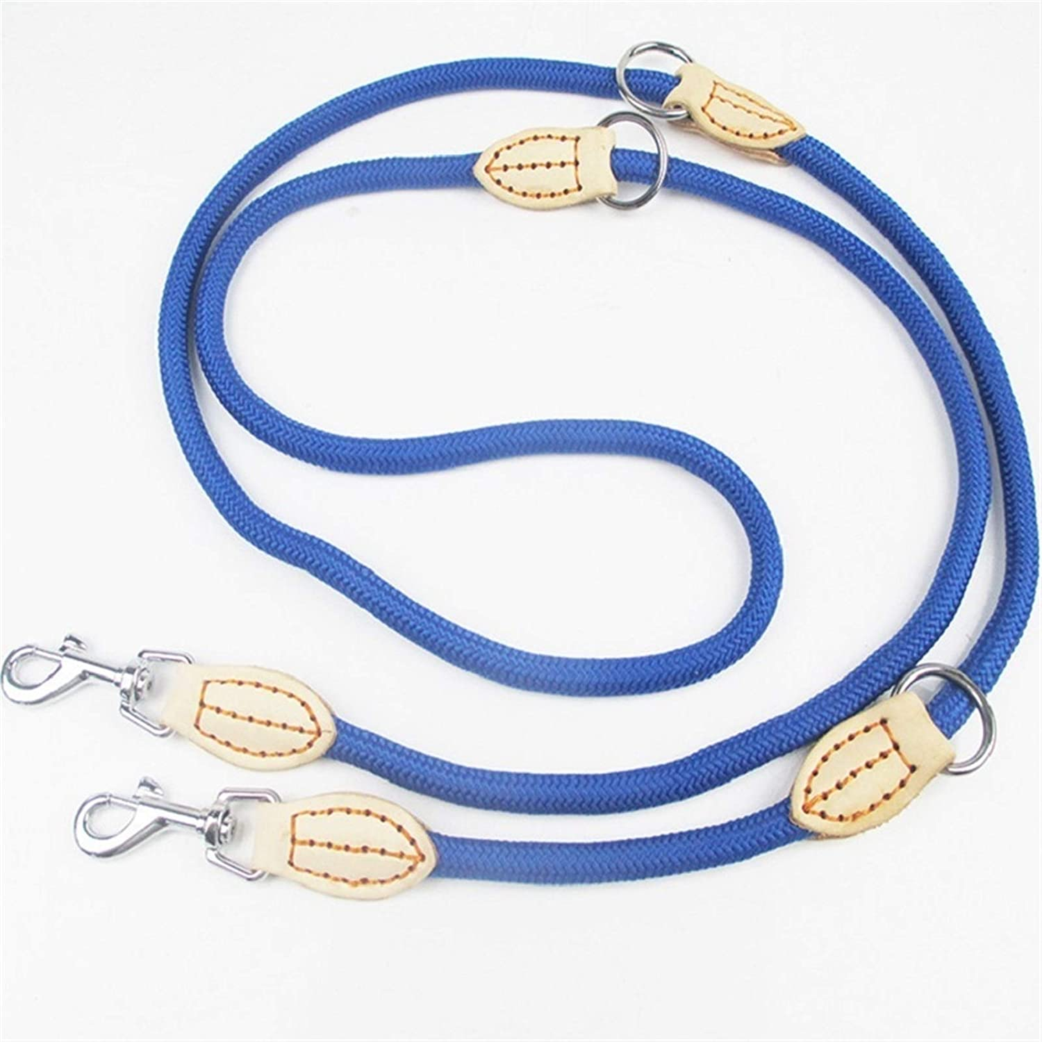 Sale price Pet Traction Rope Multifunction Two Lea Dog Nylon Outlet SALE Double Leashes