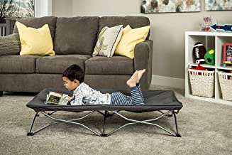 Regalo My Cot Portable Travel Bed, Grey, Includes Fitted Sheet and Travel Case 7 Pounds