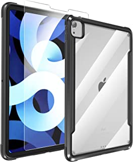 """SmartDevil Case for iPad air4th Generation, 10.9 inch Tablet, ipad air 2020 case with Screen Protector- Shockproof, Drop Protection, Lightweight, Slim Fit case for iPad Air 10.9"""" 4th Gen (Black)"""