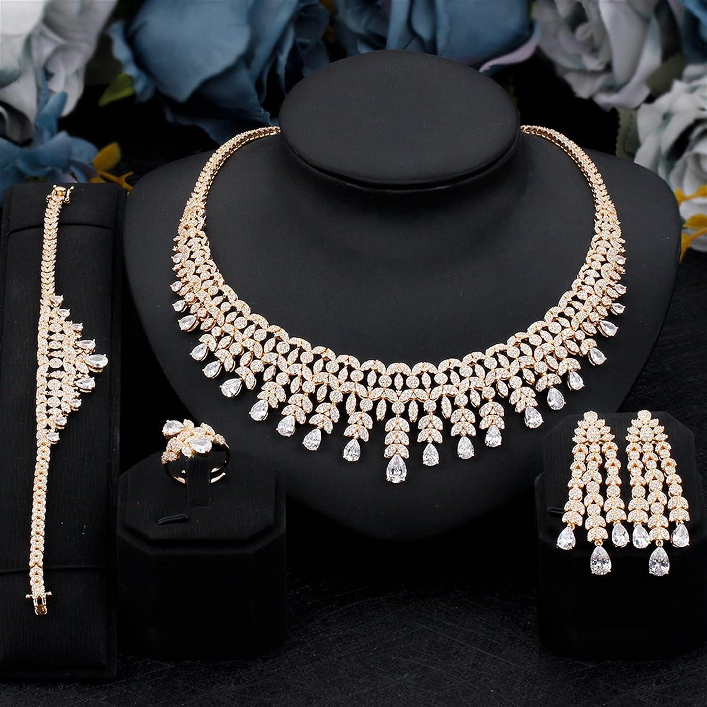 SYXMSM Jewellery Set unisex safety Women Jewelry Zirconia 4 Brid PCS Cubic