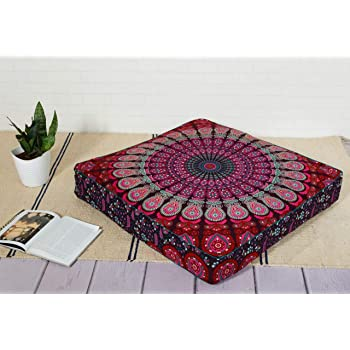 "35/"" Bohemian Large Mandala Square Floor Pillow Insert Cushion Cover Inner Pads"
