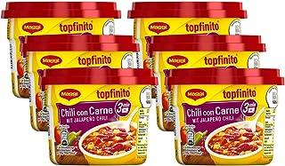 Maggi Topfinito Chili con Carne: mit Jalapeño Chili, leckeres Fertiggericht, mit Hackfleisch und Kidneybohnen, in würziger Soße, 6er Pack 6 x 380g