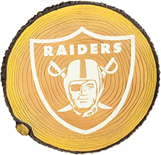 Team Sports America NFL Oakland Raiders Glow in The Dark Stepping Stone Stump, Small, Multicolored