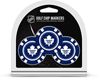 Team Golf NHL - Ball Markers (3 Count), Poker Chip Size with Pop Out Smaller Double-Sided Enamel Markers