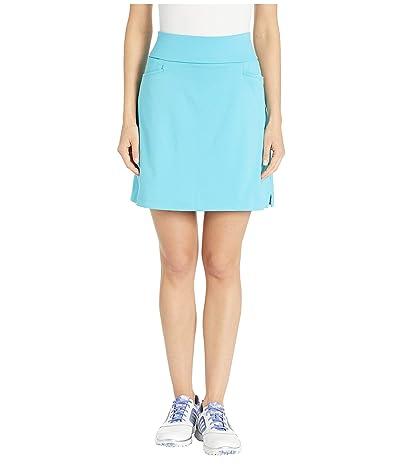 adidas Golf Ultimate Knit 18 Skort (Bright Cyan) Women