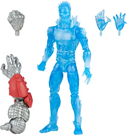 Hasbro Marvel Legends Series 6-inch Scale Action Figure Toy Iceman, Premium Design, 1 Figure, 2 Accessories, and 2 Build-A-Figure Parts