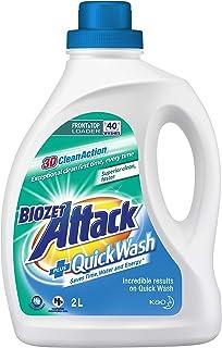 Biozet Attack Plus Quick Wash Laundry Liquid Detergent, 2 liters