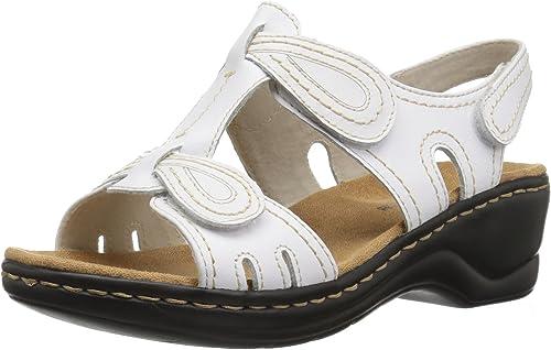 Clarks Wohommes, Lexi Walnut Q Sandal blanc 8.5 WW