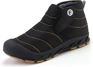 WYZDQ Bottes De Neige d'hiver d'homme Fourrure Doublée Chaussures Chaudes Antidérapante Imperméable Chaud Extérieur Bottin...