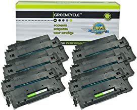 GREENCYCLE High-Yield 55A CE255A Toner Cartridge Replacement Compatible for HP Laserjet P3010 P3011 P3015 P3015d P3015x P3016 M521dn M525dn M525f M525c, Page Yield Up to 10000 Pages (Black, 6 Pack)