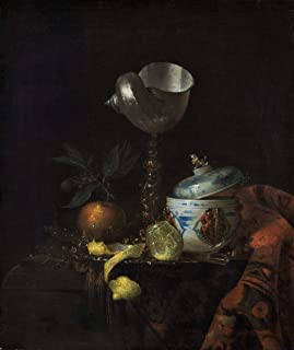 Fine Art Print - Willem Kalf - Still Life with Nautilus Cup 1665 - Vintage Wall Decor Poster Reproduction - 36in x 44in