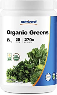 Nutricost Organic Greens Powder, 30 Servings - Superfood Powder, Certified USDA Organic