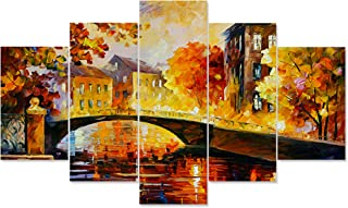 Saumic Craft Set Of 5 Modern Art Nature Scenery 3d Framed Wall Painting For Home Decoration , Living Room , Office , Hall ...