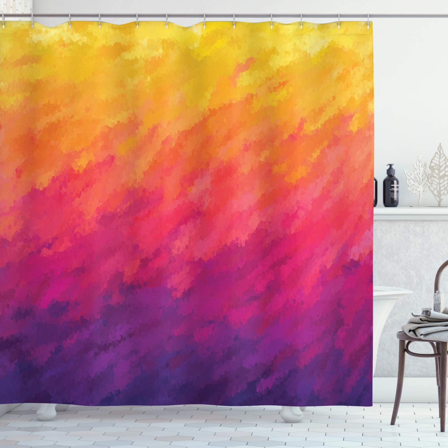 Ambesonne Abstract Shower Curtain Style High order Effect Watercolor Limited time trial price Ombre