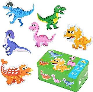comprar comparacion EKKONG Madera Educativos Juguetes Bebes,Rompecabezas de Animales de Madera (6 Pack),Adecuado para niños 1 2 3 4 años.