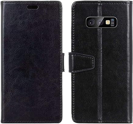 bb7c146eed Galaxy S10 Lite Case, Lusheng Premium Soft Fit [Crystal Grain] PU Leather  Flip