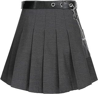 YOOJIA Damen Schulmädchen Rock Mini Röcke Schuhluniform Rock Eiskunstlauf Rock Tanzrock Mädchen Faltenrock Hohe Taille Sport kurzer Rock Tennisrock