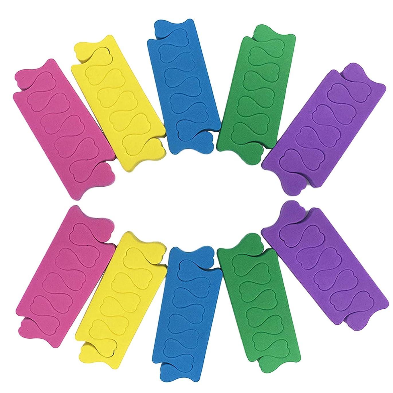 シャックル画面乞食トゥセパレーター Migavann フィンガーセパレーター 50組の色の組み合わせソフトフォームスポンジフィンガーセパレーターデバイダーネイルアートマニキュアペディキュアツール