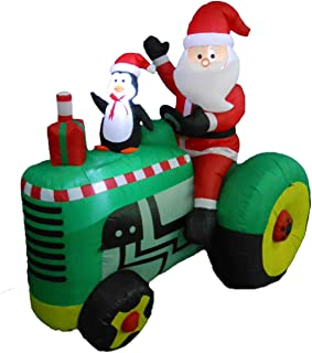 Best blow up santa on john deere tractor Reviews